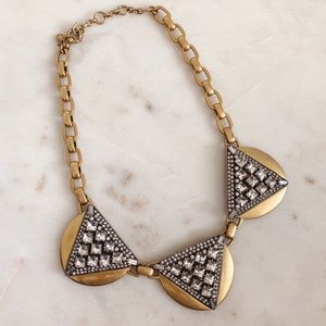 J,Crew crystal triangle necklace